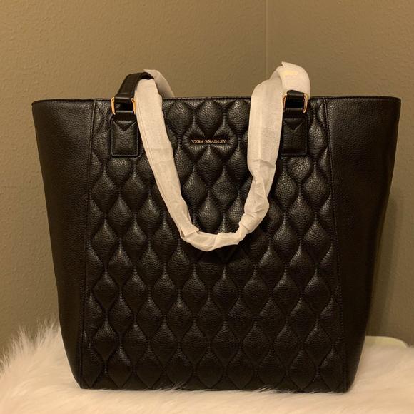 Vera Bradley Handbags - Vera Bradley Quilted Ella Tote in Black